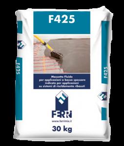 F425 Massetto radiante autolivellante