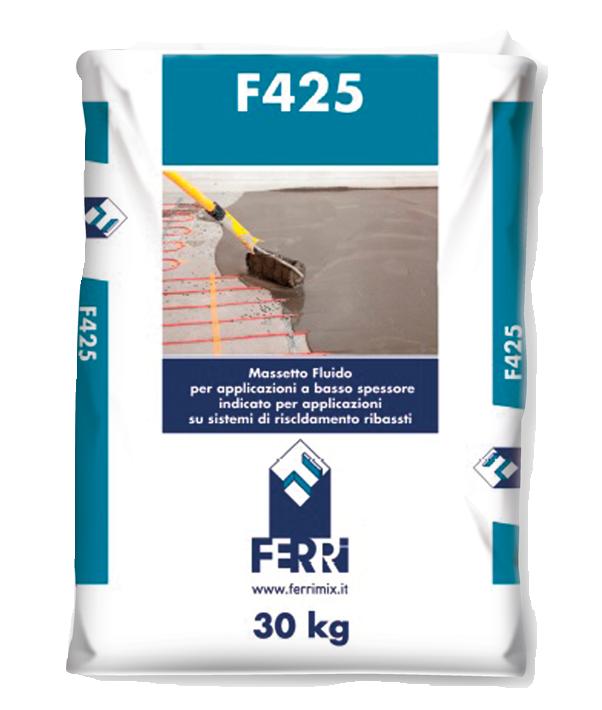Massetto Autolivellante Radiante Fluido F425 Per Bassi Spessori